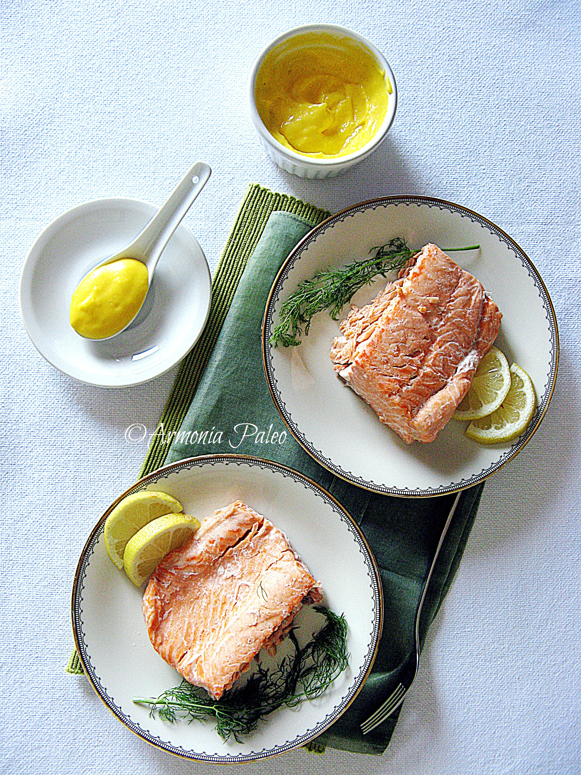 Irish Poached Salmon with Irish Butter Sauce - Salmone in Camicia con Salsa al Burro Irlandese
