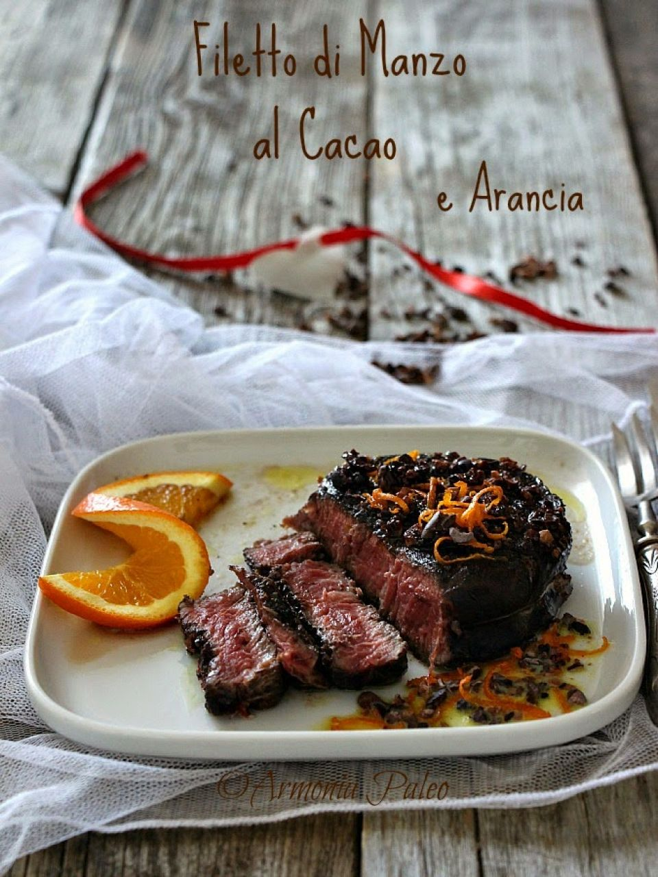 Filetto di Manzo al Cacao e Arancia
