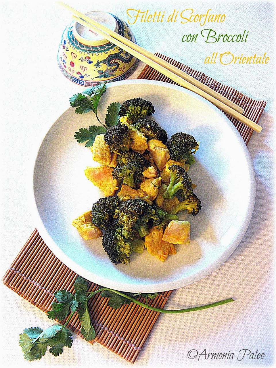 Filetti di Scorfano con Broccoli all'Orientale